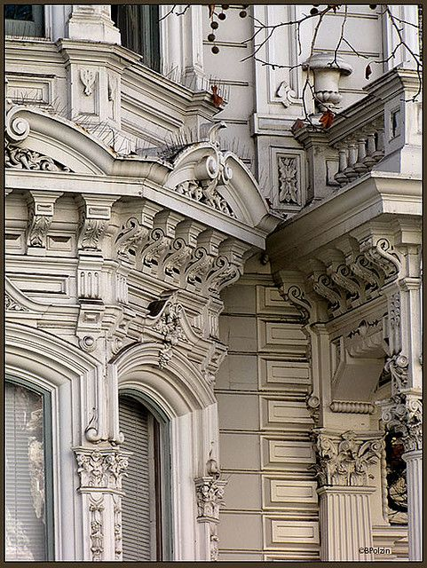 Amazing detail of San Francisco Victorian home
