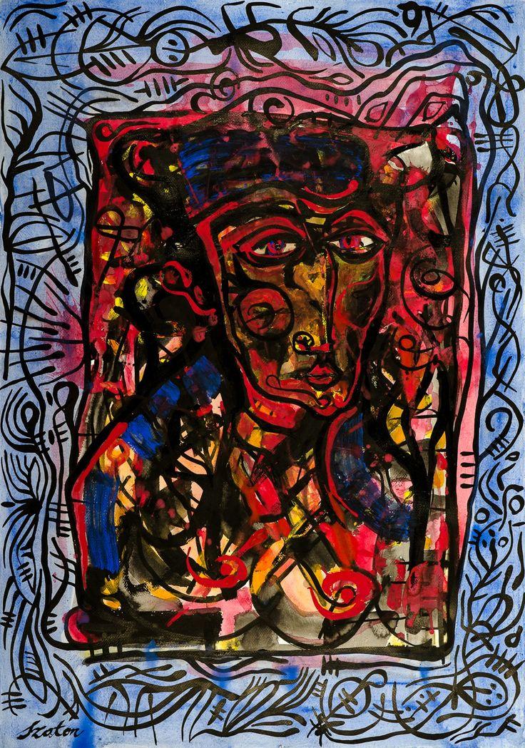 Rafal Michal Szaton, Tutankamon (2012)  #painting #art #artmarket #limitededition #artistoftheday #fineart #buyart  #popart #polishart #pinmorales
