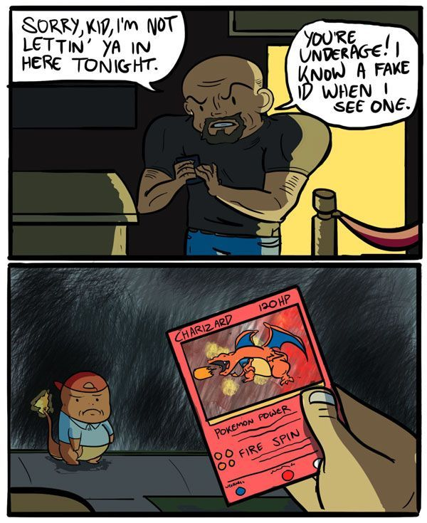 Silly Charmander, you need a neck to enter this club