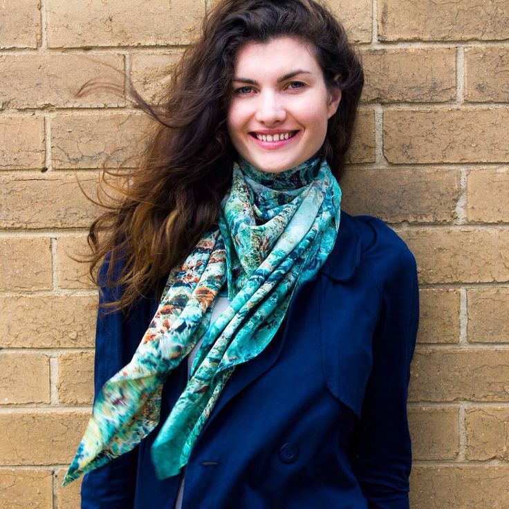 The 'Anodize' large silk square scarf.