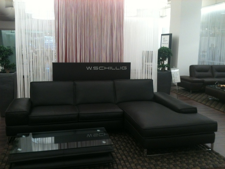 W. Schillig's Bella sectional and the Stratus table.