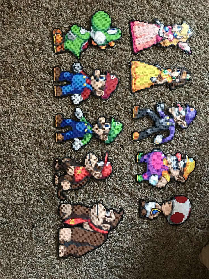 Mario party perler beads