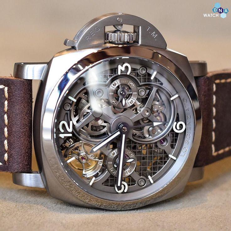 This watch is gorgeous #Panerai Luminor GMT Tourbillon #wdnapanerai by watchdna #panerai