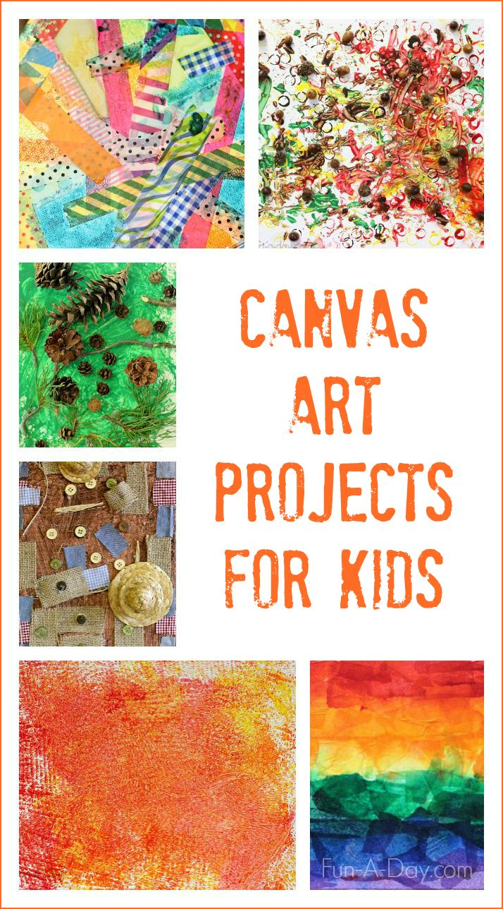 how to make canvas art at home