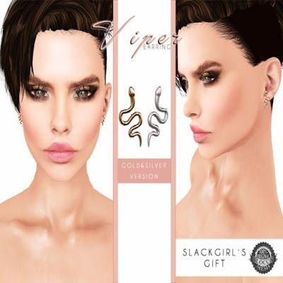 SLACKGIRL - VIPER EARRINGS / DC ANNIVERSARY GIFT