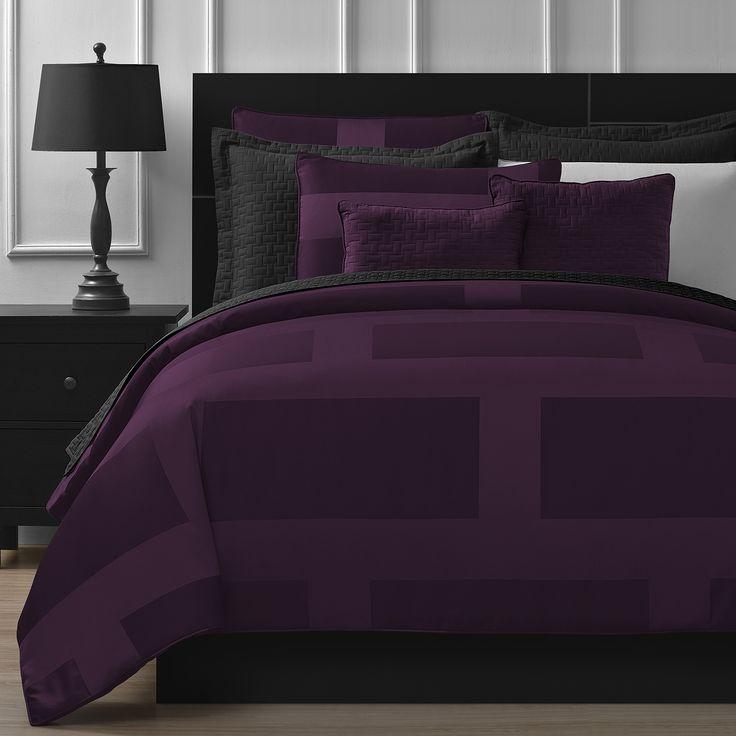 Comfy Bedding Frame Red 5-piece Comforter Set Comfy Bedding Frame Plum 5-piece Comforter Set