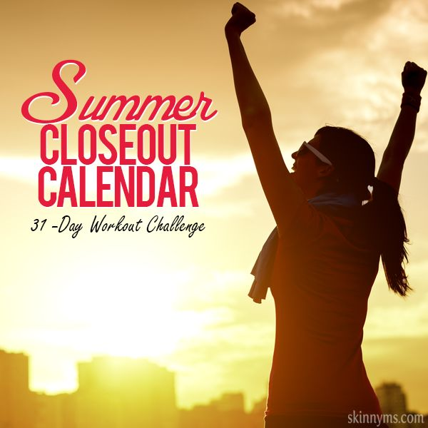 31-Day Workout Calendar for August - A free calendar with built in workouts and rest days. No guess work here, just simple and easy to follow workout routines for every day in August. #workouts #challenge #weightloss