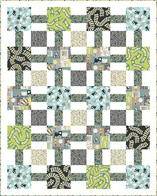 "Check out our FREE ""Little Steam Engine"" quilt pattern using the collection, ""All Aboard"" by Greta Lynn for Kanvas Studio. Designed by Heidi Pridemore. Finished size: 59"" x 74""."