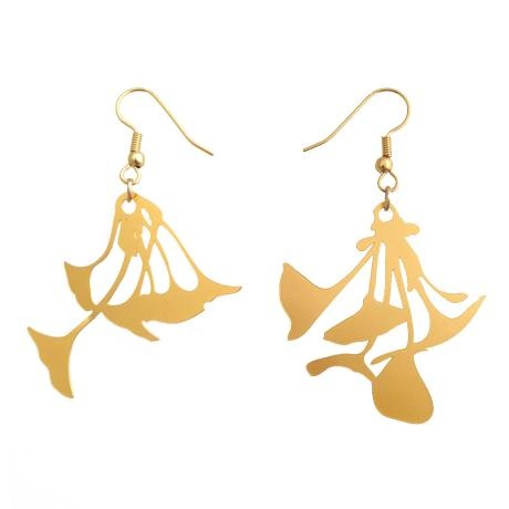 Ginkgo Biloba Earrings – Gold Tone from Biodidactic Jewellery - R299 (Save 18%)
