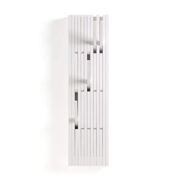 Le Portemanteau Peruse, hêtre laqué blanc (RAL 9010) en petit