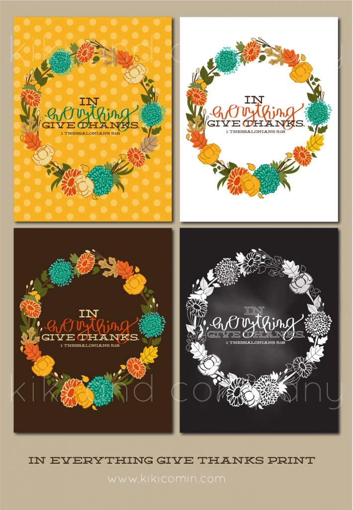Cannot wait to decorate for Thanksgiving! In everything give thanks wreath print at kiki and company.