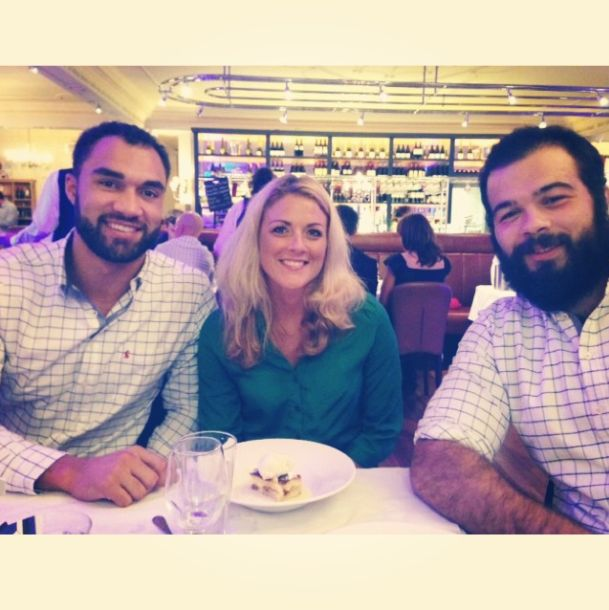 Here's our Liz with Olly Woodburn and Kane Palma-Newport at Bath Rugby's Official Shirt Sponsor Dinner in Bath #Bath #Rugby