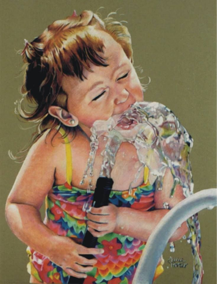 Colored Pencil Drawing Quot Water Fountain Quot Custom Art