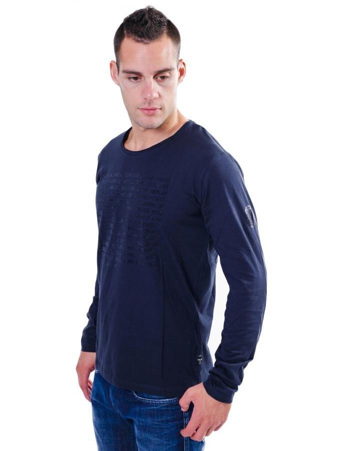 REPLAY Slim μπλούζα, βελουτέ τύπωμα