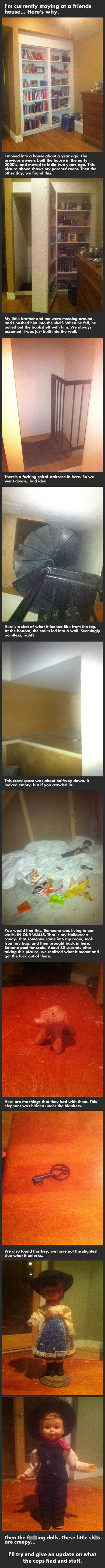 You will not believe what these brothers found behind this bookshelf.