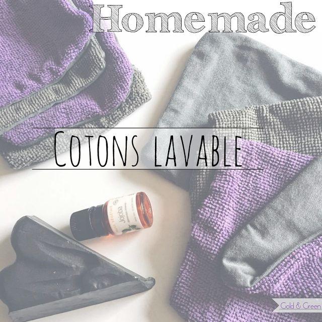DIY Cotons lavable, écologie, zéro dechet, homemade cotons