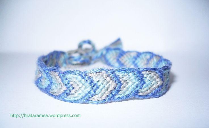 friendship bracelet leaves pattern