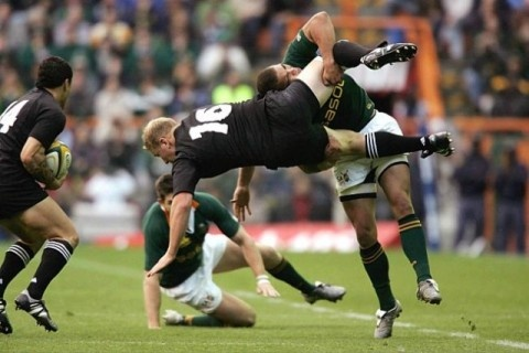 Rugby: South Africa Springboks vs. New Zealand All Blacks
