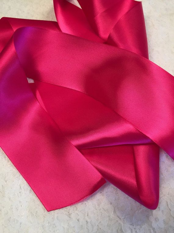 Pink Satin Ribbon/Sassy Pink Ribbon/Pink by AuntGigisSewingShop
