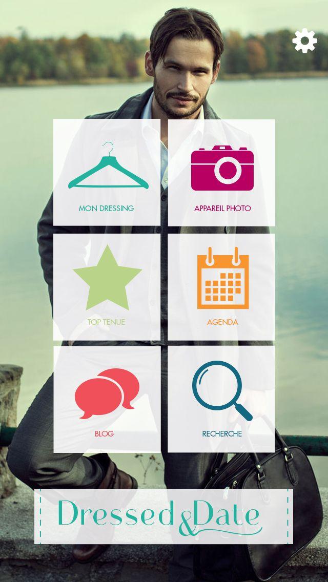 Application Dressed & Date // Screenshot Page d'accueil Homme // Disponible gratuitement sur APP STORE : itunes.apple.com/... et sur PLAY STORE : https://play.google.com/store/apps/details?id=air.fr.groupe1234.dressed #Application #Mode
