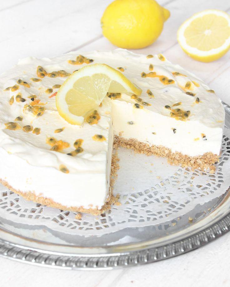 Fryst citron- & passionsfruktscheesecake – lindasbakskola.ned.betaurl.se