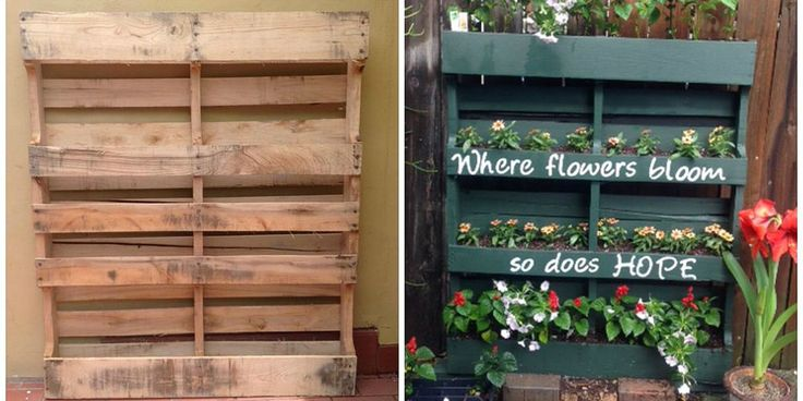 How to Turn a Shipping Pallet Into a Vertical Garden - DIY Gardening Projects