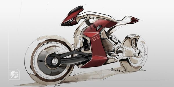 Electric motorcycle sketch on Behance