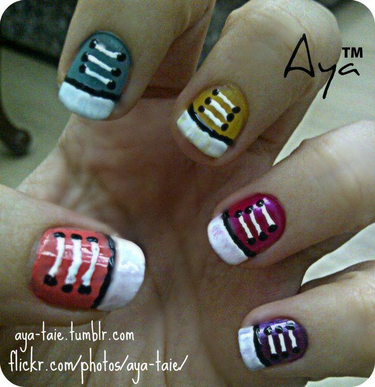 Nail Art Couture Converse Nail Art: DeviantART: More Like Panda Nail Art By ~Ayooshie
