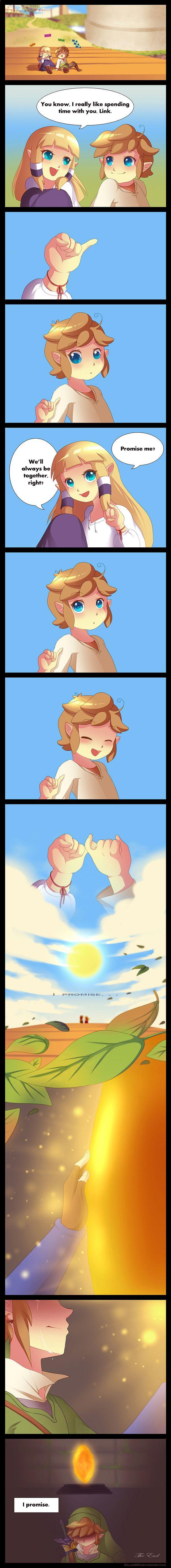 Zelda and Link comic - Legend of Zelda // Awww. // #LegendofZelda #LOZ #Comics #Cute #Kawaii #fanart