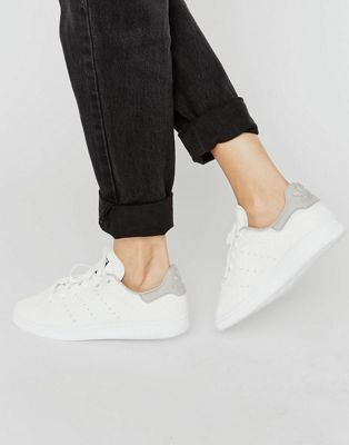 adidas Originals White Embossed Snake Suede Stan Smith Unisex Trainers