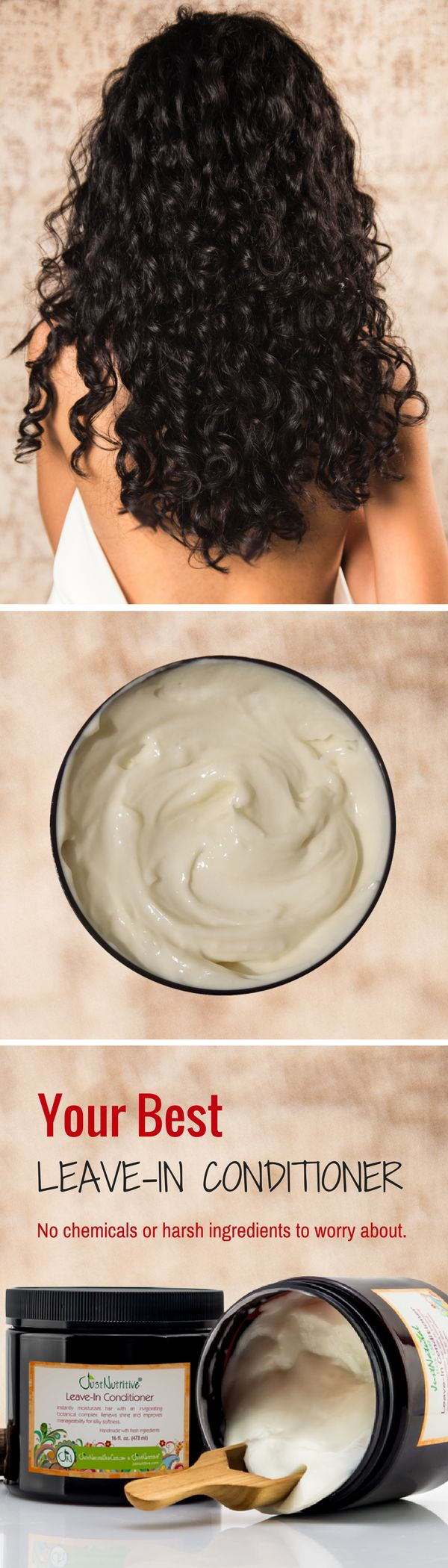 Perfect for curly, dry and/or chemical-treated hair. This creamy leave in conditioner replaces lost moisture, nutrients and protein to increase styling and manageability. With your first use, you will see and feel a noticeable improvement.