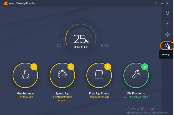 Log file in Avast Cleanup Premium Settings