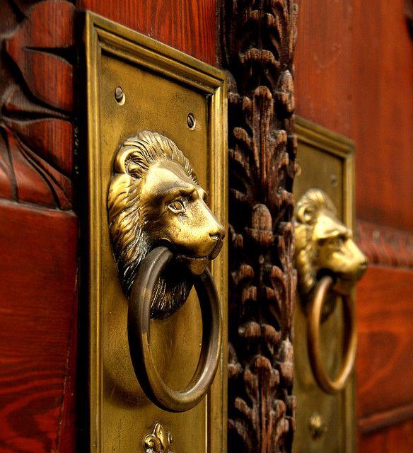1000 Ideas About Lion Door Knocker On Pinterest Door