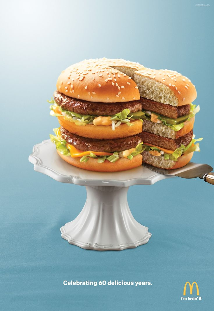 Mcdonald 39 s big mac slice celebrating 60 delicious years for Ad agency in usa
