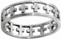 Christian Unisex Stainless Steel Abstinence Cutout Cross Chastity Ring - Guys Purity Ring, Girls Purity Ring. Jewelry. Metal. 12/1/2012. 670690384072.