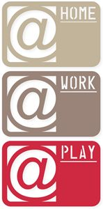 Silhouette Design Store - View Design #27237: 4x6 '@home,work,play' life cards