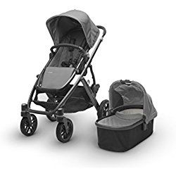 UPPAbaby 2017 Vista Stroller with Bassinet in Pascal Grey
