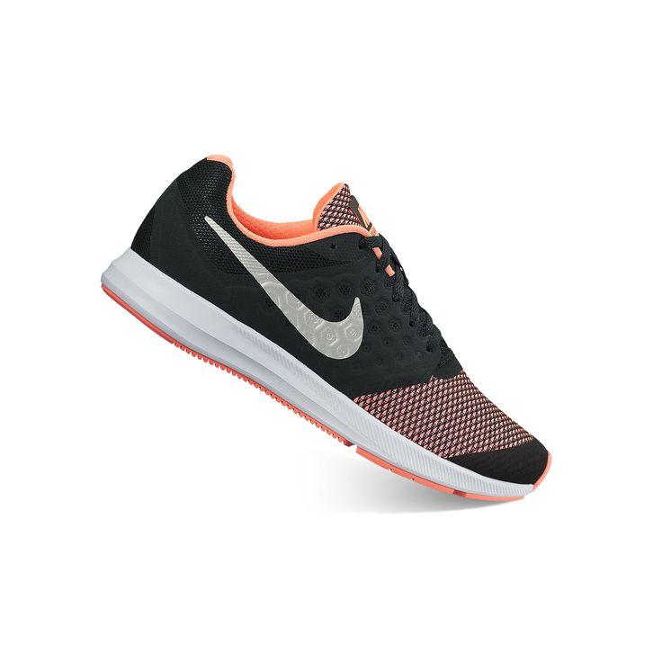 Nike Downshifter 7 Grade School Girls' Running Shoes, Girl's, Size: 6, Black