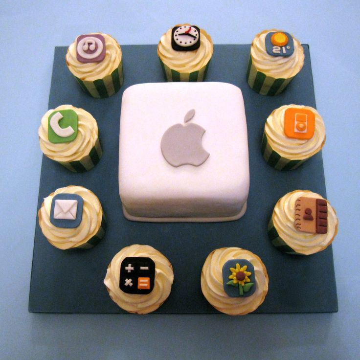 i-cake, apple cake, i-phone cake, i-phone cake, i-pad cake    Cakes By Jacques - Beautiful Bespoke Cakes, Biscuits and Cupcakes: Big Cake, Little Cakes