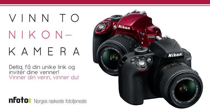 Denne linken er en unik invitasjon fra din venn. Bli med i Nfoto.no, Norges raskeste fototjeneste, sin kamera-konkurranse med denne din venns link, og dere kan vinne dette kvalitetskameraet fra Nikon, sammen!