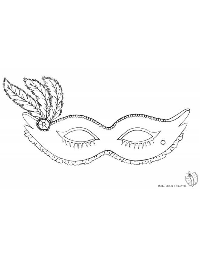Disegno Maschera Carnevale Con Piume Disegni Da Colorare E