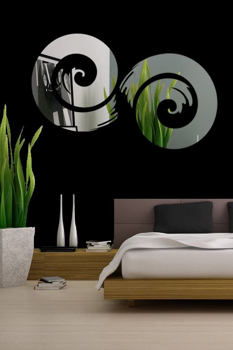Wall Decals Projection Mirror-Reflective Decals- WALLTAT.com Art Without Boundaries
