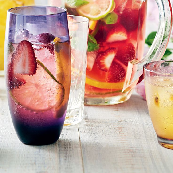Strawberry Basil Sangria Punch