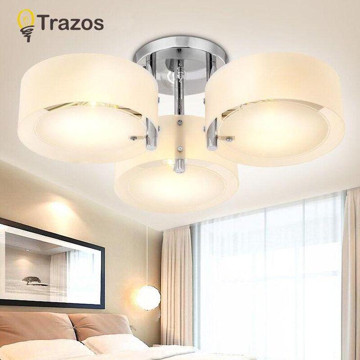 NEW 2017 Modern Ceiling Lights modern fashionable design dining room lamp pendente de teto de cristal white shade acrylic lustre
