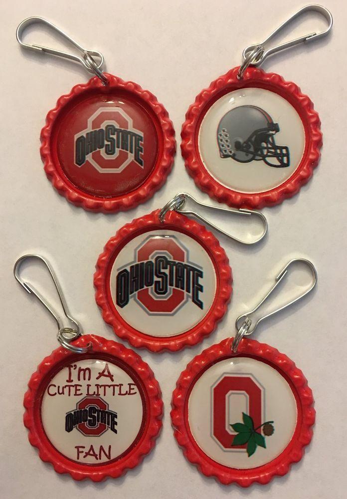 Handmade Ohio State Buckeyes Football Inspired Zipper Pull Gift set of 5   Sports Mem, Cards & Fan Shop, Fan Apparel & Souvenirs, College-NCAA   eBay!