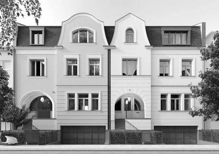 2 stadth user d sseldorf oberkassel projekte for Klassische villenarchitektur