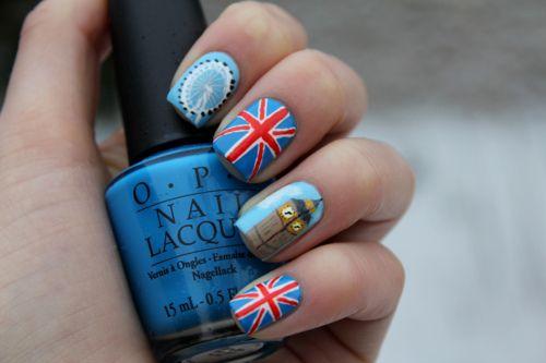 (:Nails Art, London Nails, Nails Design, Nailart, Nailsart, British Nails, Nails Polish, Big Ben, London Call