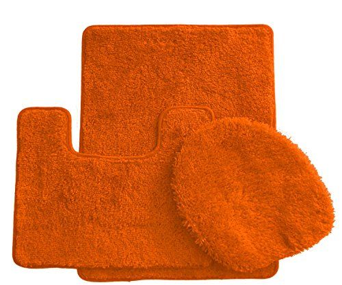 Royal Plush Collection 3Piece Bathroom Rug Set Bath Mat Contour and Toilet  Cover Standard Round Size. 25  unique Orange anti slip mats ideas on Pinterest   Rag rug