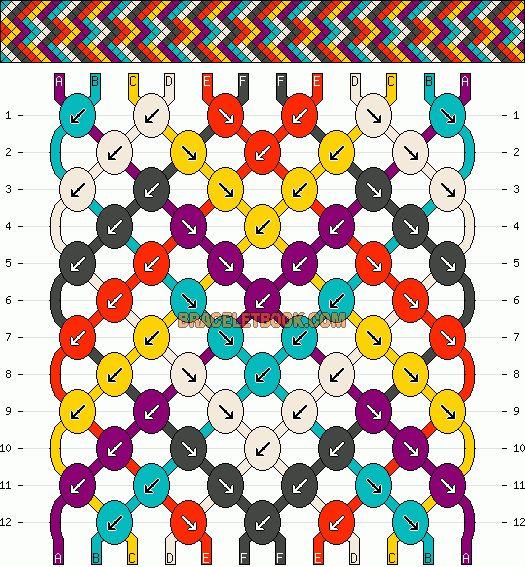 Normal Friendship Bracelet Pattern #11752 - BraceletBook.com