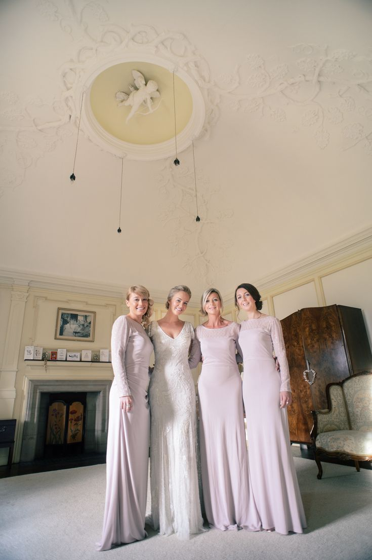 Bride and Bridesmaids in the Bridal Suite